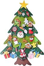 DYNWAVE Árvore de Natal de feltro - 3.2 FT DIY Felt Conjunto de árvore de Natal para crianças, enfeites destacáveis, porta...