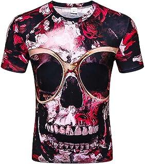 Moda Casuale Vacanza Spiaggia Fantasia Festa Miscela Cotone T-Shirt Semplice Sport O-Collo Manica Corta Maglietta /… POLPqeD Uomo 3D Muscolo Stampato Tops