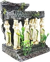 Inkach Aquarium Decoration, Roman Temple Ruins Aquarium Fish Tank Hiding Cave Ornament