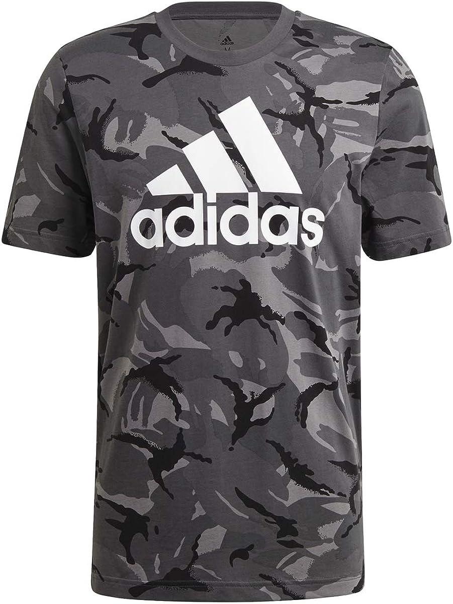 adidas Performance M Camo AOP T T-Shirts & Polo Shirts Men Grey - M - Short-Sleeved T-Shirts