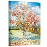 ArtWall Vincent Vangogh's Pink Peach Tree, Gallery Wrapped Canvas, 36 by 48-Inch