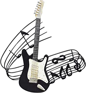Loghot Retro Iron Musical Instruments Wall Art Sculpture Hanging Figurine Statue for Home/Bar/Cafe/Shop Decor (Guitar)