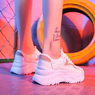 2019 New Sports Shoes Female Korean Version of The Summer Flame Net Red Women's Shoes Old Shoes Wild (Color : Brown, Size : 36)