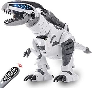 RC Dinosaur Robot Toy, Giant Dinosaur, Smart Programmable Interactive Walk Sing Dance for Kids Gift Present