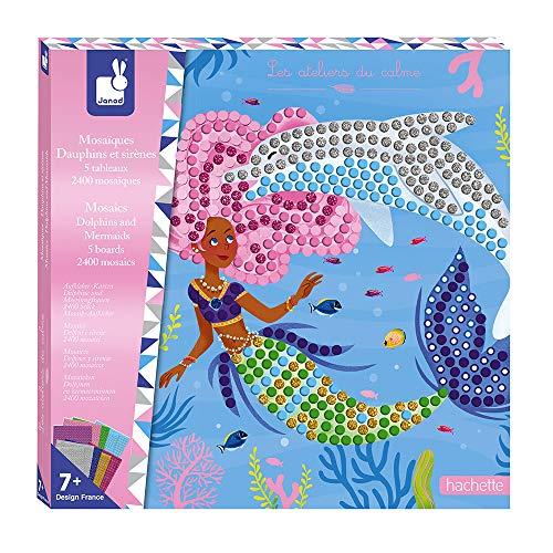 Janod- Actividades Creativas - Mosaico de Delfines y Sirenas (Juratoys J07902)