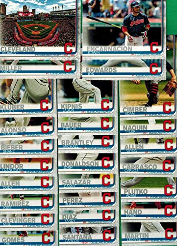 Cleveland Indians 2019 Topps Complete Mint Hand Collated 27 Card Team Set...