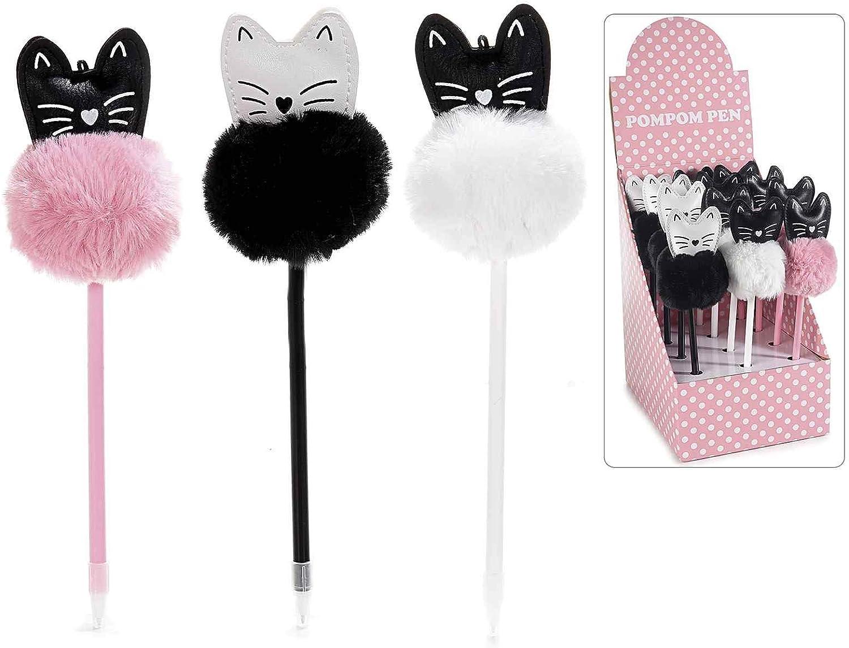 Ideapiu 12 Kugelschreiber Katze aus Kunstleder mit Bommel mit 12 Stück B07MJ1LSP9 | Haben Wir Lob Von Kunden Gewonnen