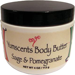 Yumscents Body Butter, Sage and Pomegranate, 4 Ounce