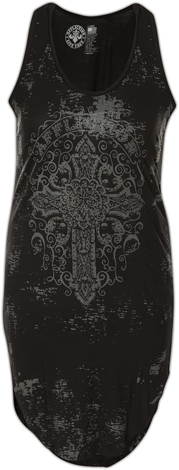 Affliction Chambery Sleeveless Fashion Graphic Dress For Women