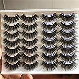 PLEELL False Eyelashes Natural&Dramatic 2 Styles High Volume Faux Mink Eyelashes Pack Wispy Handmade Soft Lightweight Reusable Makeup Lashes 14 Pairs