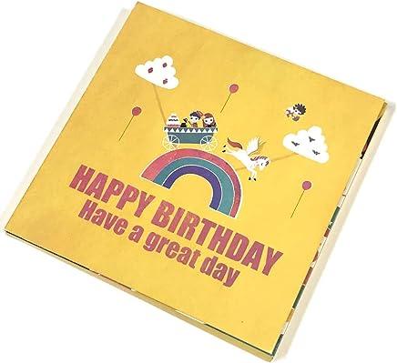 誕生日 グリーティングカード 音の名入れ 名前で歌うバースデーカード ケーキ