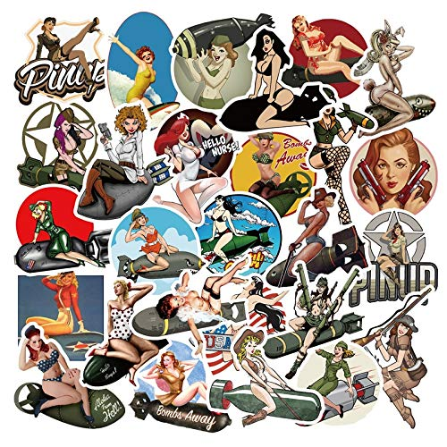 10/30/50 Uds.Pegatinas Retro de la Segunda Guerra Mundial Pin-up para Chicas Calientes para Equipaje de Ordenador portátil, Motocicleta, Nevera, monopatín, calcomanía para Coche