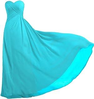 ANTS Women's Strapless Long Bridesmaid Dresses Chiffon Wedding Prom Gown