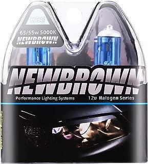 9007 HB5 Halogen Headlight Bulb High Beam with Super White Light PX29T 12V/55W or 65W 5000K, 2 Pack, 1Yr Warranty
