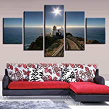 LHOBX 5 canvas paintings hotel decoration Canvas Pictures HD Print 5 Pieces House Path Seascape Poster Shining Starfish Painting Framelesss Art Decor Living Room Wall-40x60 40x8040x100cm