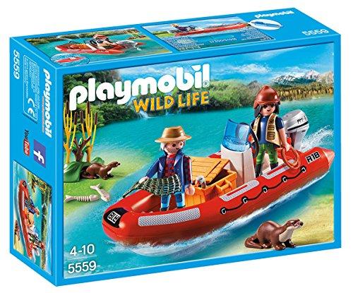 PLAYMOBIL: Bote Hinchable con exploradores