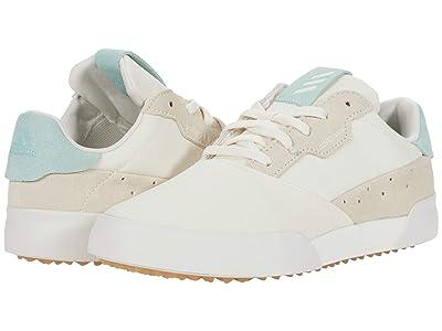adidas Golf Adicross Retro (Little Kid/Big Kid) (Chalk White/Hazy Green/Gum 3) Golf Shoes