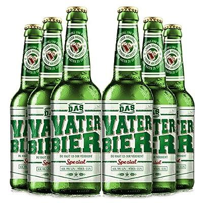 VATERBIER 0,33 l Biergeschenk Babyloben, Mitbringsel Pullerparty, Vatertagsgeschenk (6x0,33l)