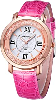 Fashion Watches 1745 Fashion Women Quartz Wrist Watch with PU Leather Band and Alloy Watch Case