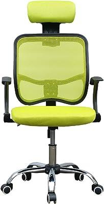 PanaCasa - Silla de Malla Transpirable Giratorio de 360 Grados para Escritorio Oficina Dormitorio (Verde
