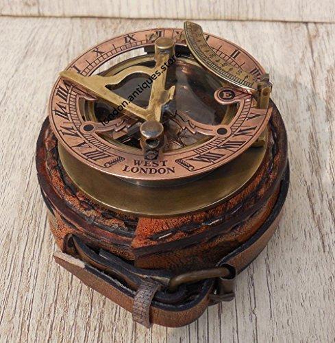 Maritime Museum Store Handgefertigt aus Kupfer & Messing Sonnenuhr Kompass–Pocket Sonnenuhr–Messing Antiquitäten West London. Schönes Geschenk Artikel. c-3058