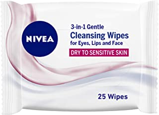 NIVEA Daily Essentials 3 in 1 Cleansing Wipes, 25 Wipes