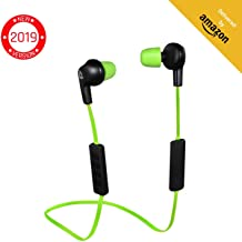 KLIM Pulse Bluetooth Wireless Earbuds – Earphones with Microphone – [New 2019 Version] Headphones – Noise Reduction – Running, Music, Phone Calls, Workout – Magnetic Ear Buds – Auriculares – Audifonos