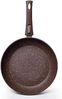 MIZ 20 – 28 cm Sartén forjada piedra ahumada revestimiento antiadherente aluminio mango desmontable para cocina de inducción de gas, 24 cm