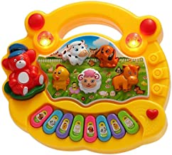 SUPER TOY Animal Sound Piano with LED Flash Light - Multicolored