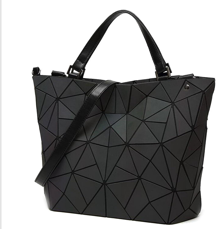 HaHapo Luminous Bag Women's Geometry Lattic Totes Bag Chain Shoulder Bags Laser