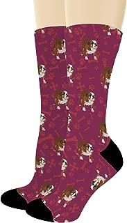 English Bulldog Gifts Bulldog Crew Socks Brindle Bulldog Themed Gifts Dog Socks Novelty Crew Socks
