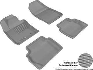 3D MAXpider Complete Set Custom Fit All-Weather Floor Mat for Select Ford F-150 SuperCrew Models - Kagu Rubber (Gray)