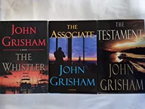 Set of 3 First Edition First Print Legal Adventure Thrillers by John Grisham: The Testament (1999), The Associate (2009), and The Whistler (2016)