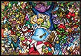 1000 piece jigsaw puzzle-pure white Alice in Wonderland story stained glass (51x73.5cm)