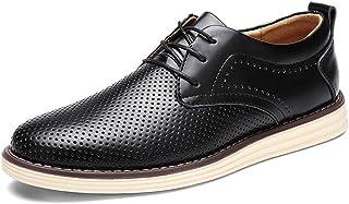 [Ksmxos] ビジネスシューズ メンズ 本革 メッシュ 通気性抜群 通勤 オフィス レースアップシューズ 防臭 快適 軽量 カジュアル 紳士靴