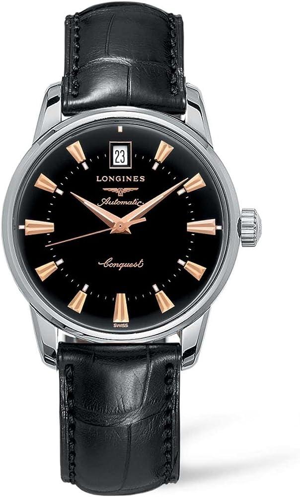 Longines orologio da polso da uomo, analogico, automatico, in pelle L16114522