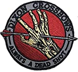 The Walking Dead Dixon Crossbows Iron On Patch