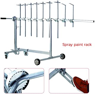 Auto Body Paint Stand Rack, 7 Locking Positions 90º Rotating Paint Rack, Paint Spray Booth, Door Hood Panel Painting Stand Hook Hanger Holder for Car Hold Hoods Tailgates Doors Lift Gates,Deck Lids