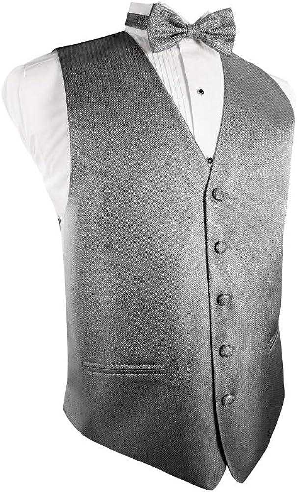 Cardi Herringbone 4-Piece Tuxedo Vest Set