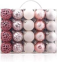 20 Piece Set Christmas Ball Christmas Ball Pendant Christmas Tree Pendant Silver Pink
