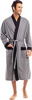 Men's Ultra Soft Waffle Robe, 3/4 Length Bathrobe