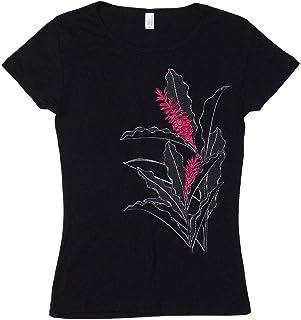 (ムームーママ) MuuMuuMama 半袖 フライス Tシャツ トーチジンジャー柄