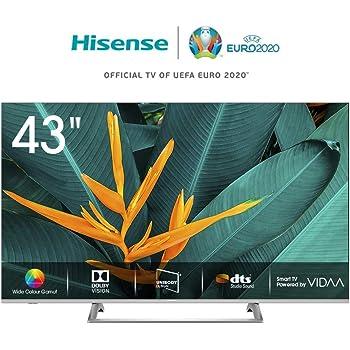 "Hisense H43BE7400 Smart TV LED Ultra HD 4K 43""/110 cm, Dolby Vision HDR, Wide Colour Gamut, Unibody Design,Tuner DVB-T2/S2 HEVC Main10 [Esclusiva Amazon - 2019]"