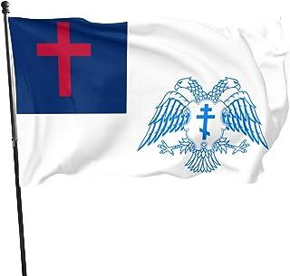 Sponsored Ad - YAMIKE Eastern Orthodox Church Christian Flag 1pcs - Tough Spun Polyester Garden Decor Single Sided Outdoor...