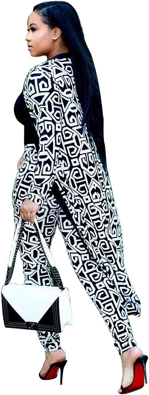 Women's 2-Piece Suit-tie-dye Sexy Long-Sleeved Open Front Cardigan + Leggings Sports Suit