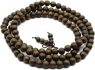 Zen Dear Unisex Burried Ebony Prayer Beads Buddha Buddhist Prayer Beads Meditation Mala Necklace Bracelet