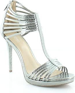 Michael Kors Leann Sandal Women's Heels Lt Pewter Size 9.5 M