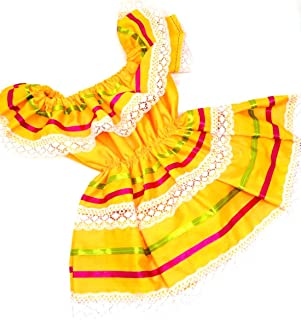 Mexican Infant Dress Size 0 Dress Color Yellow Day of The Dead Coco Theme Party Halloween Party