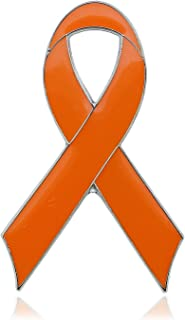 CMajor Orange Ribbon Leukemia MS Awareness Enamel Lapel Pin