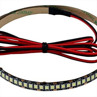 LEDテープライト (2本) 12V 高密度(240LED/m) 防水 1チップ 30cm (黒ベース) 発光色:赤色